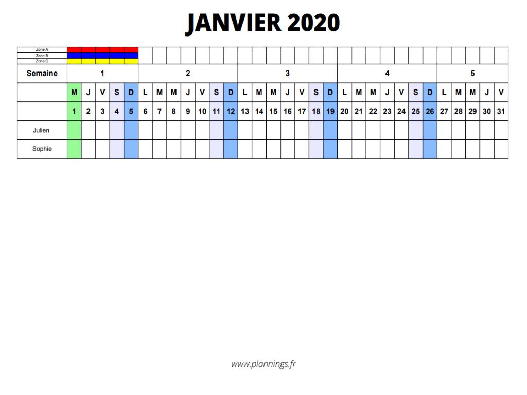 Planning : Créer un planning 2021 excel ou pdf en 3 clics